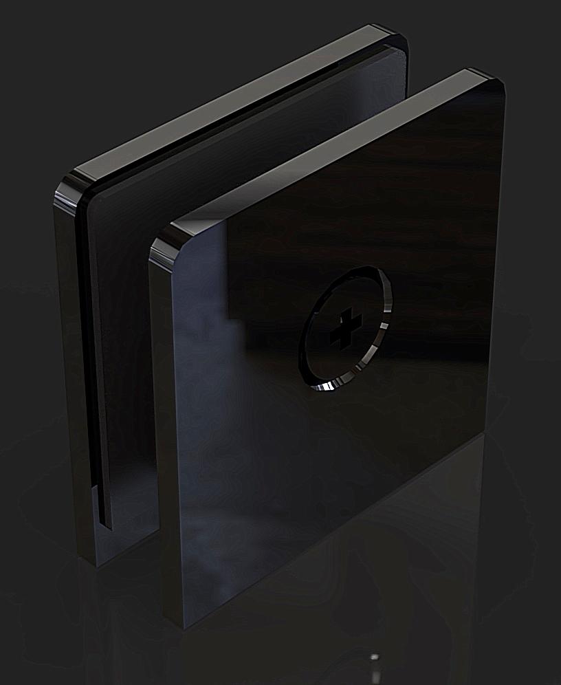 GC-00-A1 Black Коннектор стена-стекло