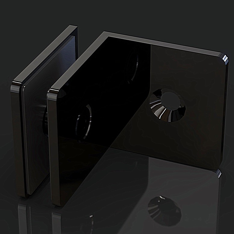 GC-090-A1 Black Коннектор стена-стекло 90 градусов
