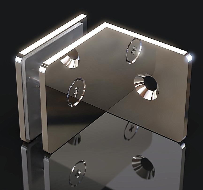 GC-090-A1 Коннектор стена-стекло 90 градусов