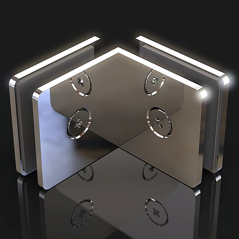 GC-90-A2 Коннектор стекло-стекло 90 градусов