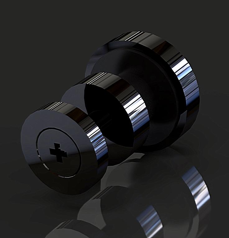 OF-WS-2 Black Крепление труба-стекло К