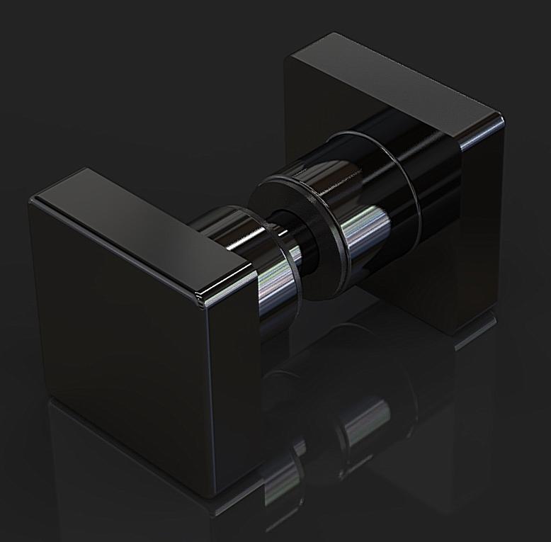 Ручка SK-39 Black Ручка кноб 35х35x22mm