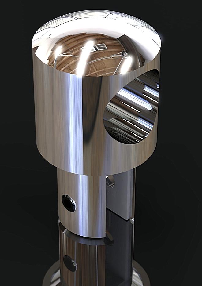 SC-2C Соединитель глухой трубы D 19mm труба – стекло