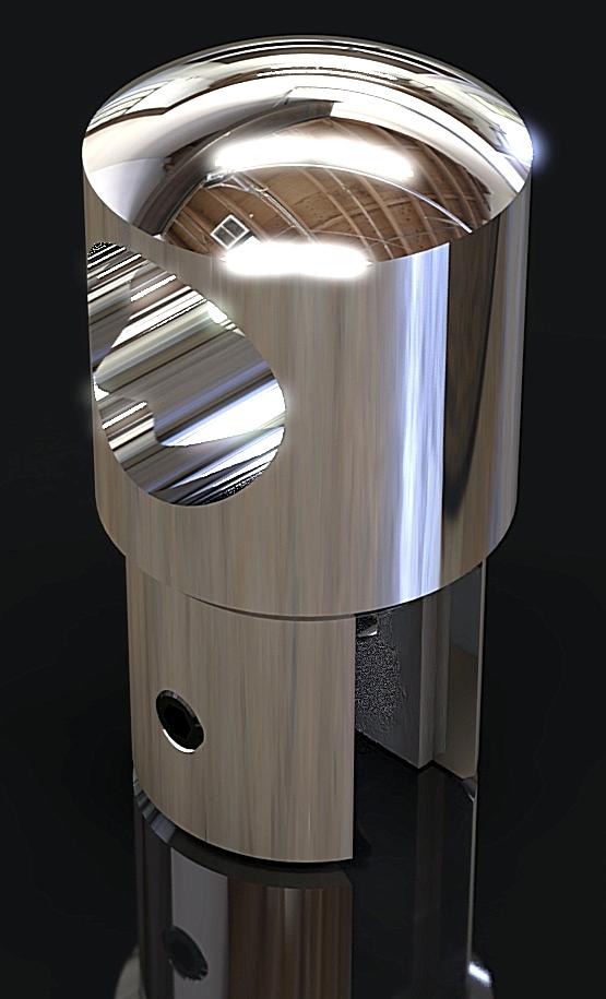 SC-2B Соединитель сквозной трубы D 19mm труба – стекло