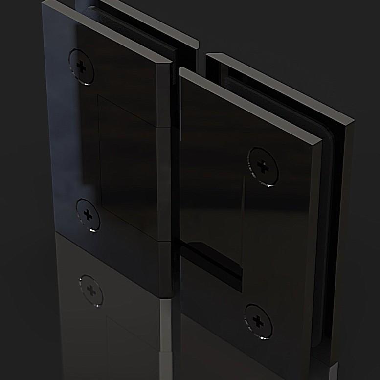 SH180-B_Black Петля стекло-стекло 180 градусов
