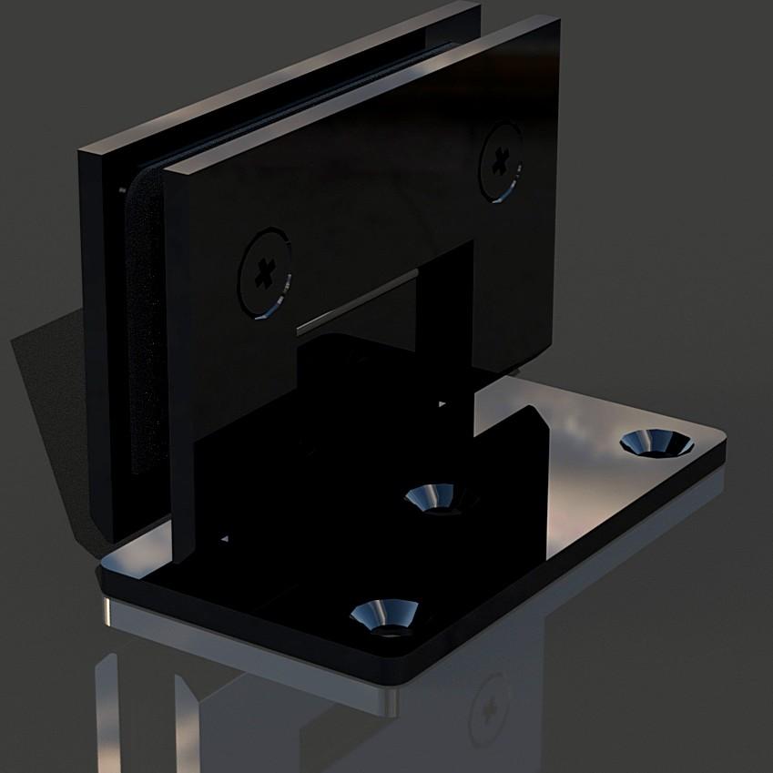SHT-B3_Black Петля стена-стекло со смещением