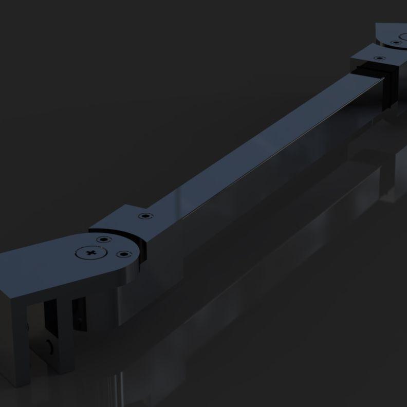 SR-01 S Black L=700mm Штанга душевая в сборе труба 15х15